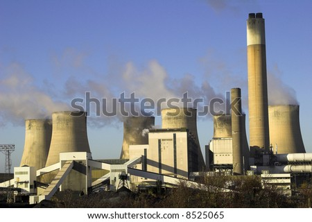 Coal Burning Power Station - stock photo