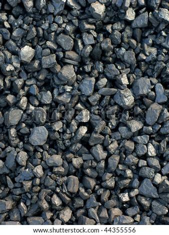coal, carbon, black background - stock photo