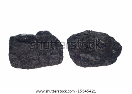 coal, carbon nuggets - stock photo