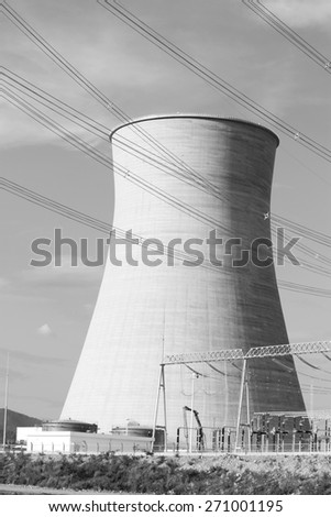 Coal fire power plant under-construction. - stock photo
