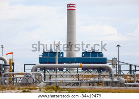 Coal fired electric power plant - stock photo