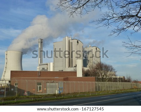 Coal-fired generating station. Hanover, Germany