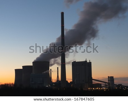 Coal fired power plant, Gersteinwerk, RWE, Germany - stock photo