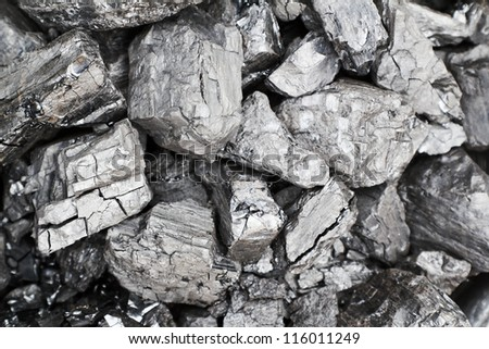 coal heap - stock photo