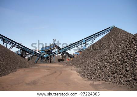 Coal mine background - stock photo