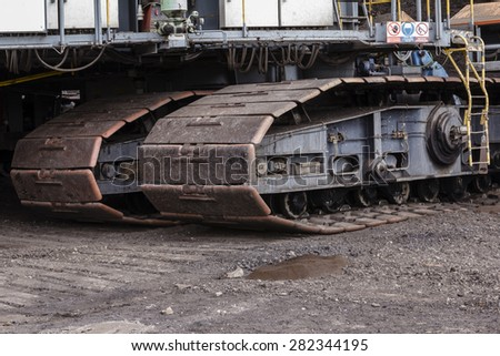 coal mine in the countryside - stock photo