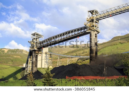 Coal mine infrastructure in the mountains