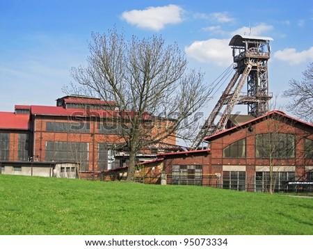 Coal mine Michal in Ostrava region in Czech Republic, nowadays a museum - stock photo