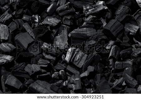 Coal mineral black as a cube stone background - stock photo