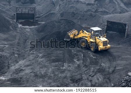 Coal mining - stock photo