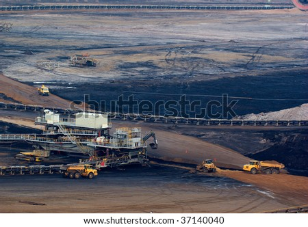Coal mining in an open pit in Rhineland, Germany - stock photo