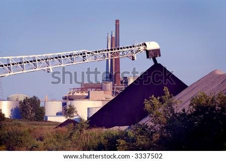 Coal off-load Conveyor - stock photo
