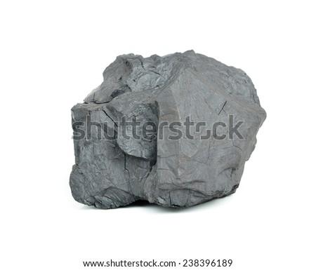 Coal on Isolated White Background - stock photo