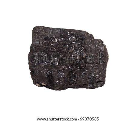 Coal on Isolated White Background - stock photo