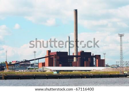Coal power plant in Helsinki, Finland - stock photo