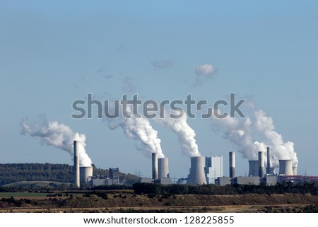 Coal power station - stock photo