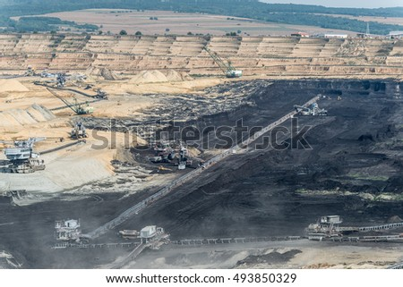 Coal production at one of the open fields