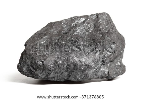Coal rock. Isolated on a white background.
