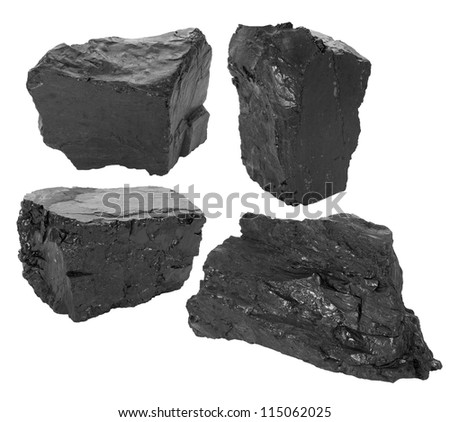Coal set - stock photo