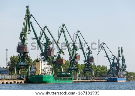 Coal terminal at the port of Gdansk, Poland - stock photo