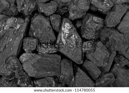 Coal texture - stock photo
