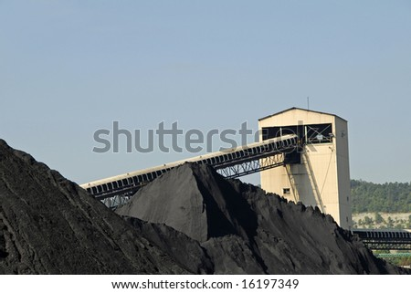 Coal Tipple used to Load Coal for Transport - stock photo
