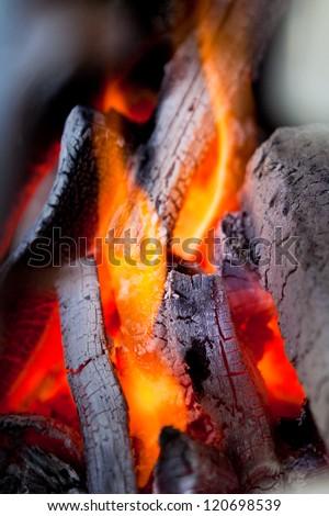 coals of fire - stock photo