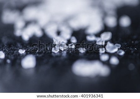 Coarse Salt (selective focus) as detailed close-up shot - stock photo