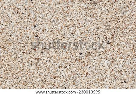 Coarse sand background texture. Macro of coarse sand grains. - stock photo