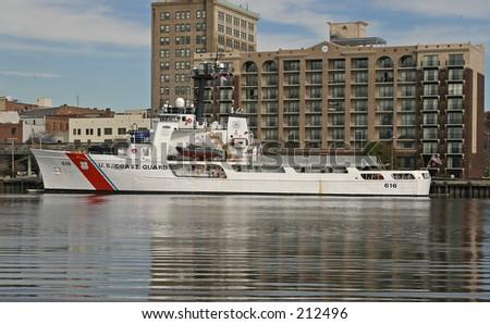 Coast Guard Cutter - stock photo
