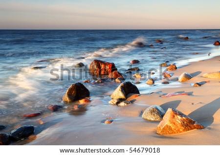 Coast in baltic - stock photo