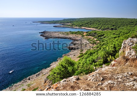 Coast in Salento, Apulia. Italy. - stock photo