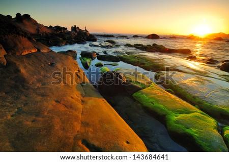 coast in Taiwan - stock photo