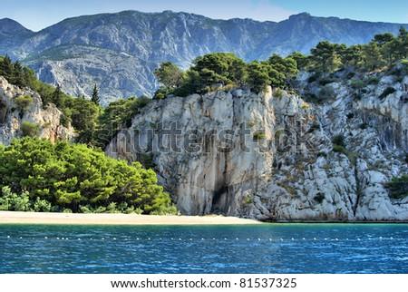 Coast near by Makarska in Croatia - stock photo