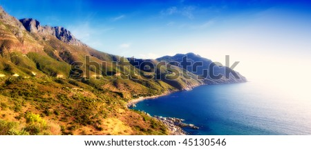 Coast near Cape Town - South Africa - stock photo