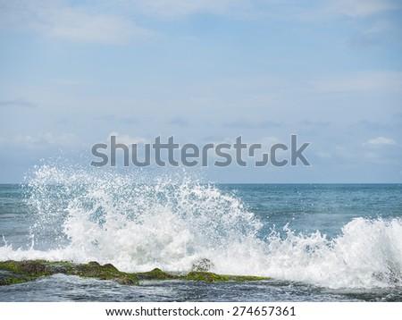 Coast near Tanah Lot, Bali. Indonesia - stock photo