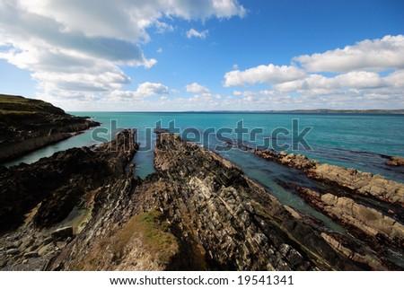 Coast of Atlantic - stock photo