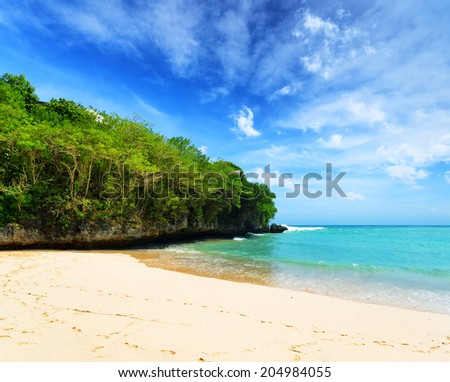 Coast of Bali Island, Indonesia. - stock photo