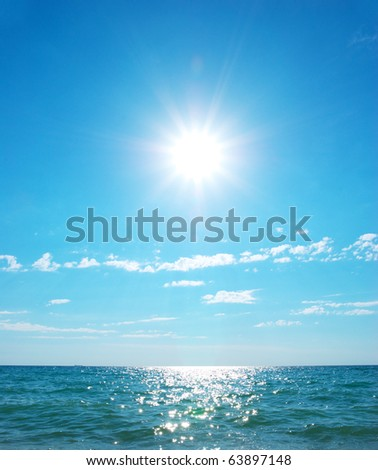 Coast of beach at day. Nature composition - stock photo