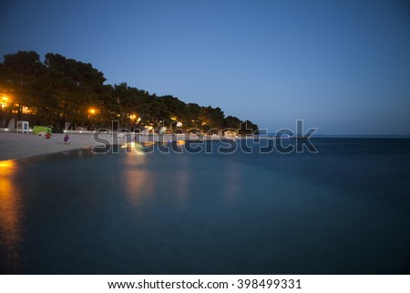 Coast of Croatia in the evening