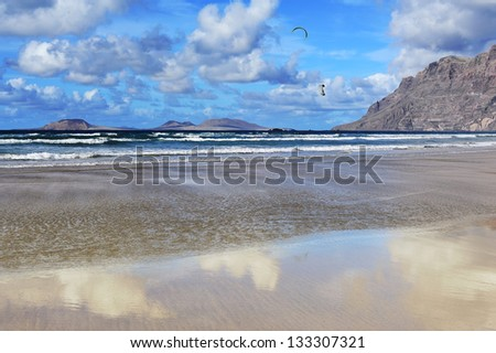 coast of  Famara, Lanzarote, Canary Islands, Spain
