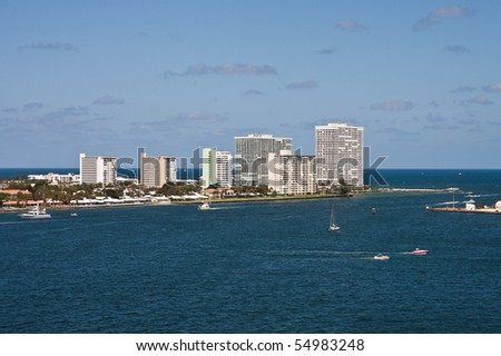 Coast of Florida from Port Everglades