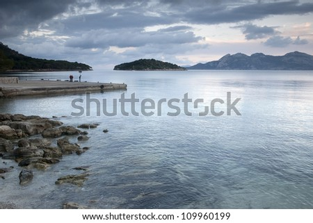 Coast of Formentor Mallorca; Spain at Dusk