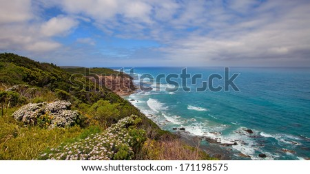 Coast of Great  Otway National Park, Great Ocean Road, Australia - stock photo