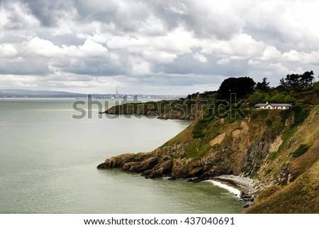 Coast of Howth island, ( Dublin ) Ireland - stock photo