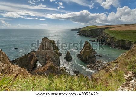 coast of Ireland Nohoval Cove - stock photo