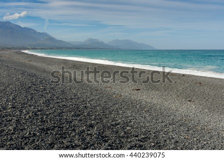 Coast of Kaikoura, south island New Zealand.