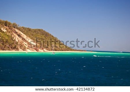 Coast of Moreton Island Australia - stock photo