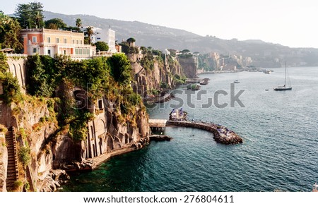 Coast of Piano di Sorrento. Italy - stock photo