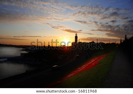 coast of Plymouth, UK - stock photo